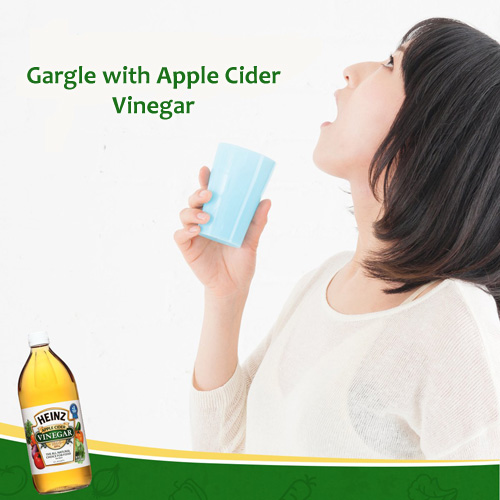 Gargle with Apple Cider Vinegar