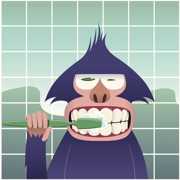 How to Brush Your Teeth with Monkey